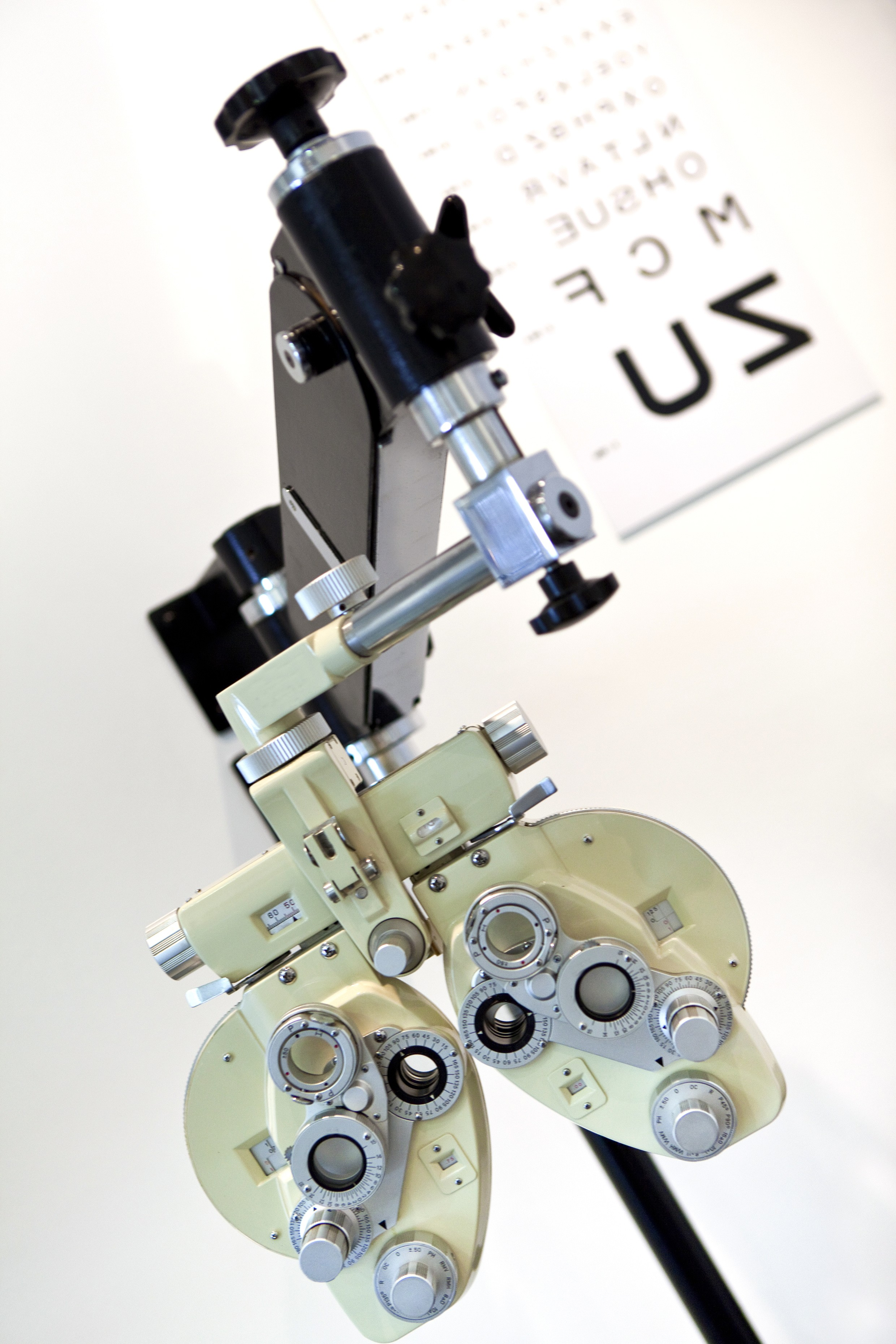 Detail of ophtalmology equipment for opticians